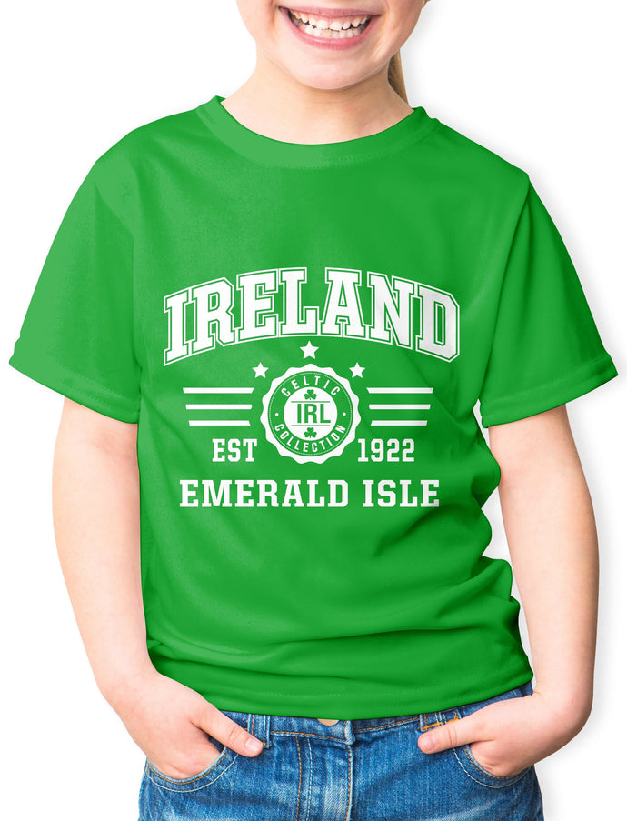 EMERALD ISLE Children Classic T-Shirt Cara Craft 3-4 Kelly Green