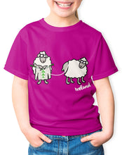 Load image into Gallery viewer, SHEEP KNITTING Children Classic T-Shirt Cara Craft 3-4 Fuchsia