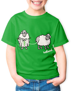SHEEP KNITTING Children Classic T-Shirt Cara Craft 3-4 Kelly Green