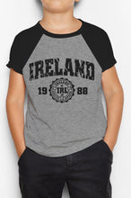 Load image into Gallery viewer, IRELAND APPAREL 88 Children Classic T-Shirt Cara Craft GREY 3-4