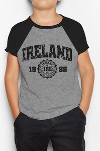 IRELAND APPAREL 88 Children Classic T-Shirt Cara Craft GREY 3-4