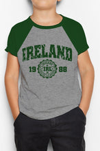 Load image into Gallery viewer, IRELAND APPAREL 88 Children Classic T-Shirt Cara Craft BOTTLE GREEN 3-4