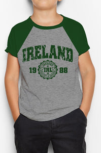 IRELAND APPAREL 88 Children Classic T-Shirt Cara Craft BOTTLE GREEN 3-4