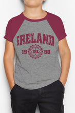 Load image into Gallery viewer, IRELAND APPAREL 88 Children Classic T-Shirt Cara Craft BURGUNDY 3-4