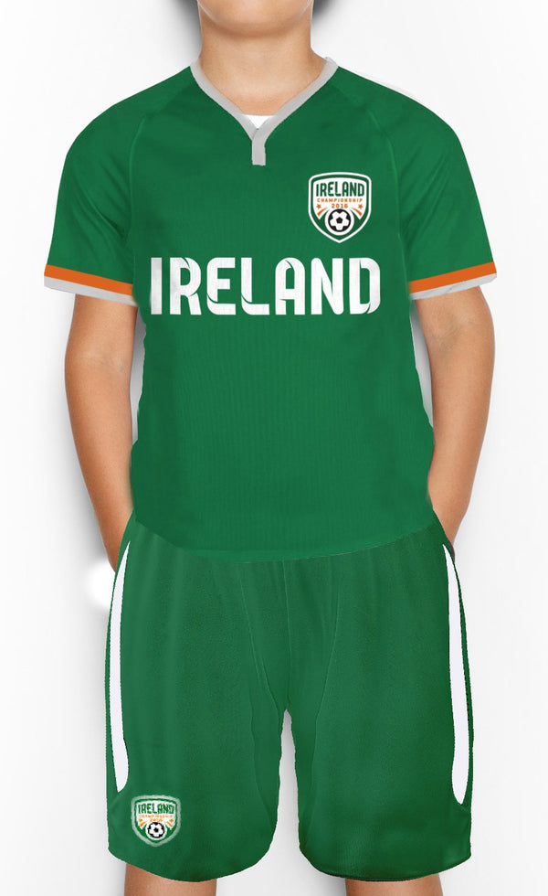 IRELAND CREST Children Classic T-Shirt Cara Craft GREEN 3-4