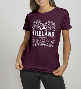 IRELAND GOLD Ladies T-Shirts Cara Craft S BURGUNDY