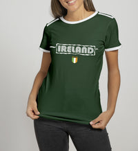 Load image into Gallery viewer, IRELAND BLIPPO SHIELD Ladies T-Shirts Cara Craft S BOTTLE GREEN