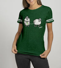 Load image into Gallery viewer, SHEEP KNITTING Ladies T-Shirts Cara Craft S BOTTLE GREEN