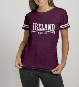 DALE IRELAND 1922 Ladies T-Shirts Cara Craft S BURGUNDY