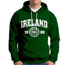 Load image into Gallery viewer, IRELAND APPAREL 88 Men Hoodies Cara Craft XS BOTTLE GREEN