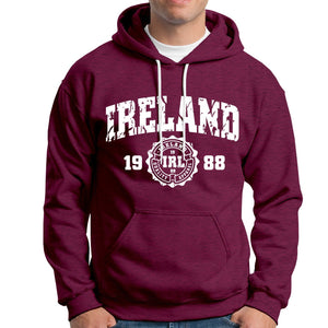 IRELAND APPAREL 88 Men Hoodies Cara Craft XS MAROON