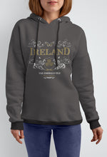 Load image into Gallery viewer, IRELAND ORNATE BUTTERFLY LADIES HOODIES Cara Craft S CHARCOAL
