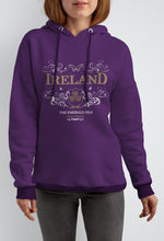 Load image into Gallery viewer, IRELAND ORNATE BUTTERFLY LADIES HOODIES Cara Craft S PLUM
