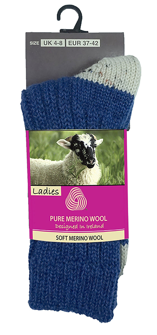 MERINO WOOL WOMEN SOCKS Glenrua Merino Socks Cara Craft Blue