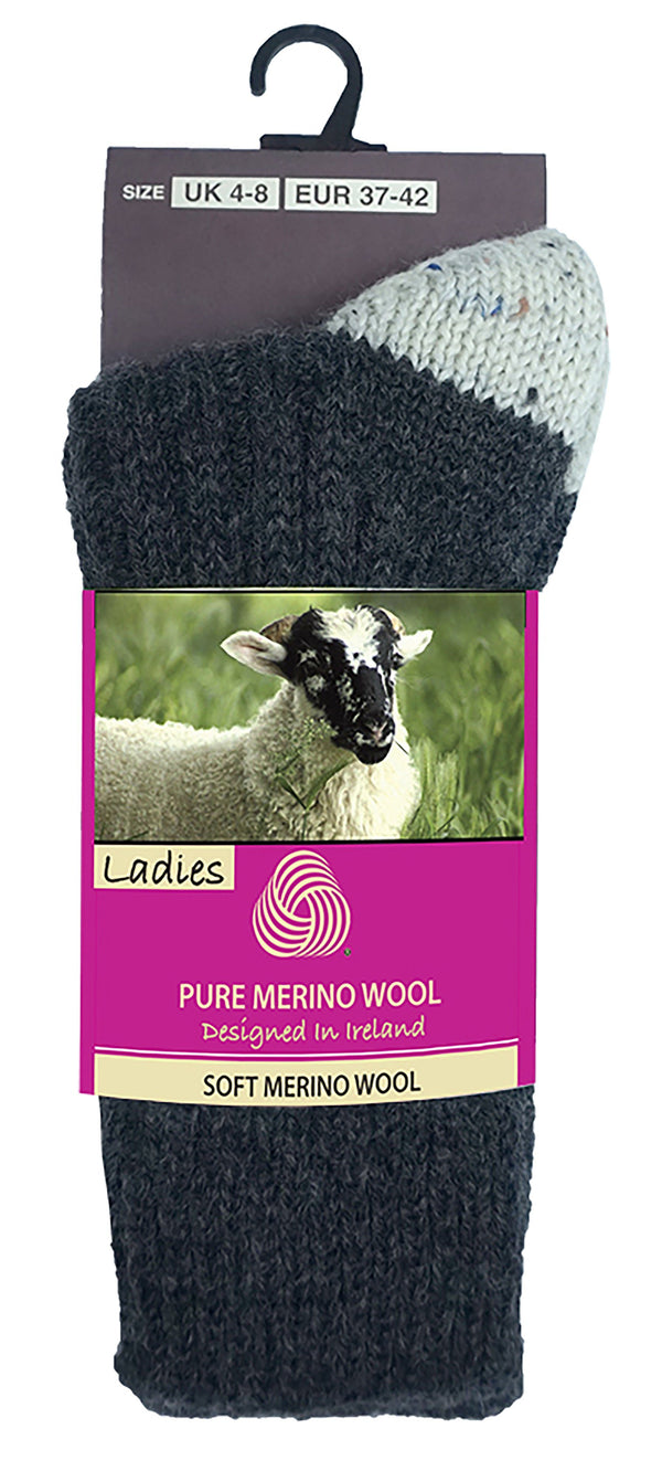 MERINO WOOL WOMEN SOCKS Glenrua Merino Socks Cara Craft Charcoal