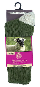 MERINO WOOL WOMEN SOCKS Glenrua Merino Socks Cara Craft Lime