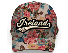 Load image into Gallery viewer, IRELAND LEAGUE FLORAL CAPS/HATS Cara Craft BEIGE