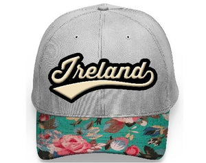 IRELAND LEAGUE FLORAL CAPS/HATS Cara Craft WHITE