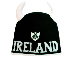 IRELAND SHAMROCK SHEILD CAPS/HATS Cara Craft BOTTLE GREEN