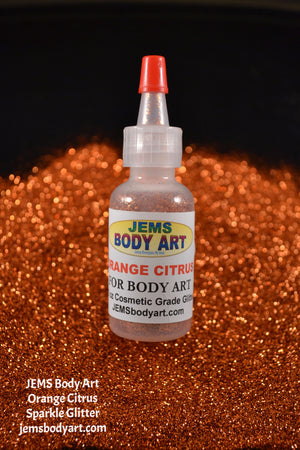 Orange Citrus Sparkle Glitter