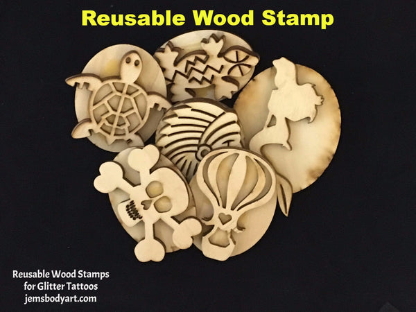 SUPER WOW - 20 Wood Stamp Bundle