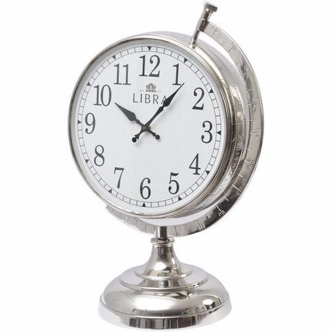 Jumbo Nickel Bulbous Clock
