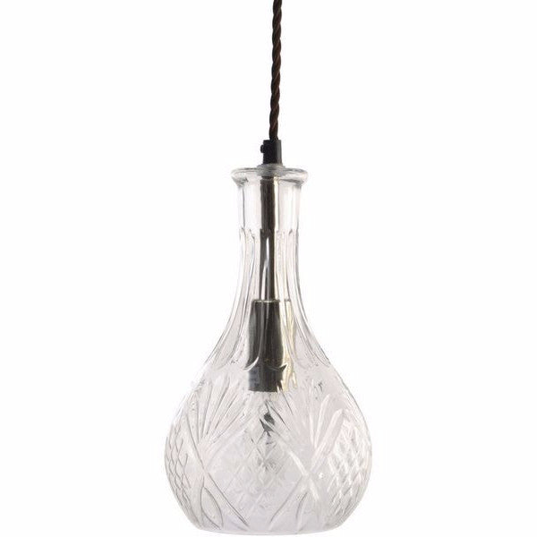 Rye Cut Glass Decanter Pendant