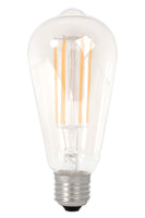 Rustic LED Straight Filament Lamp E27 - Clear Finish