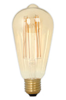 Rustic LED Straight Filament Lamp E27 - Gold Finish