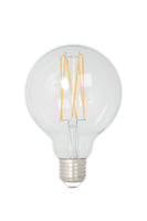 Small Globe (80mm) LED Straight Filament Lamp E27 - Clear Finish