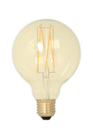 Small Globe (80mm) LED Straight Filament Lamp E27 - Gold Finish