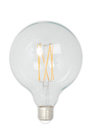 Large Globe (125mm) LED Straight Filament Lamp E27 - Clear Finish