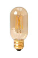 Tubular LED Straight Filament Lamp E27 - Gold Finish