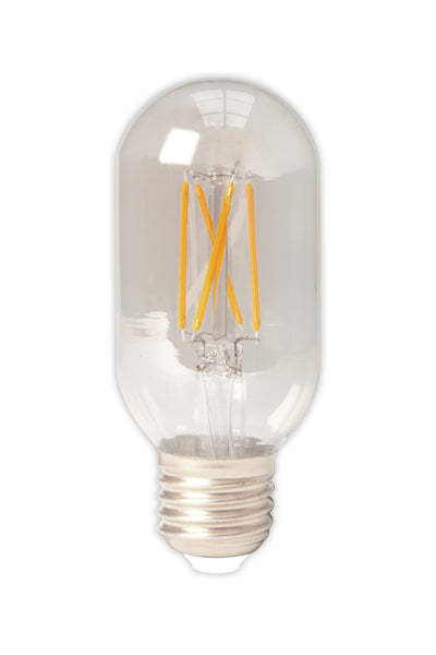 Tubular LED Straight Filament Lamp E27 - Clear Finish