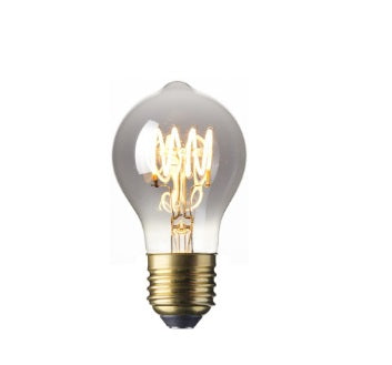 Classic LED Spiral Filament Lamp E27 - Titanium Finish