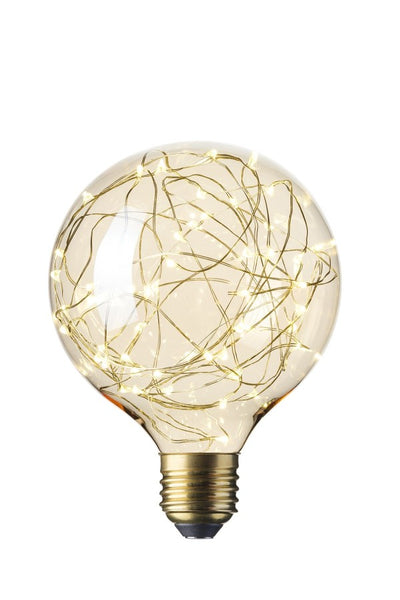 Satrs Globe (125mm) LED Pearl Filament Lamp E27