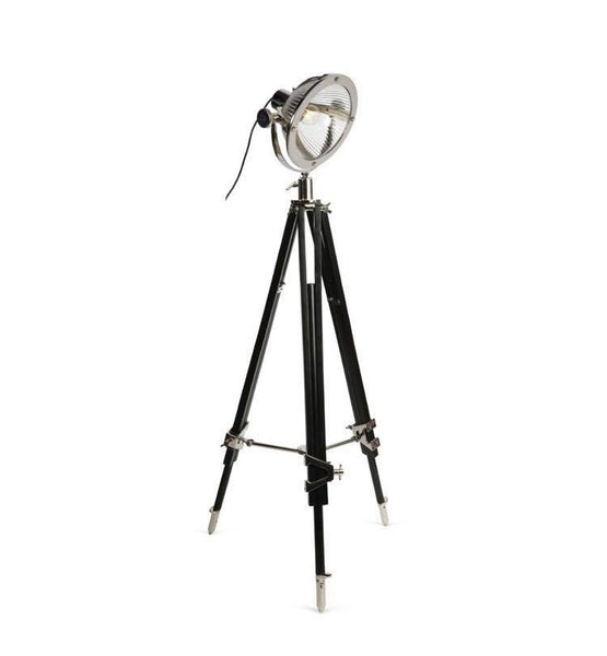 Chicago Black Wood Tripod Spotlight