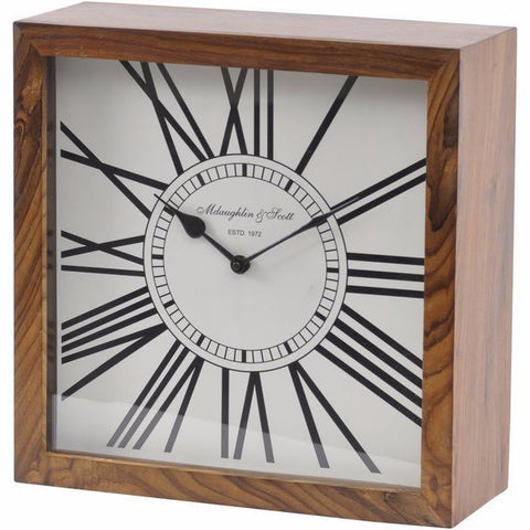 Mortimer Wooden Mantel Clock Small