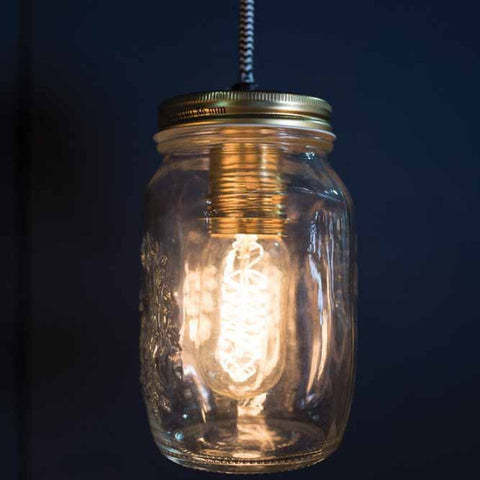 Single Preserve Jar Pendant Light
