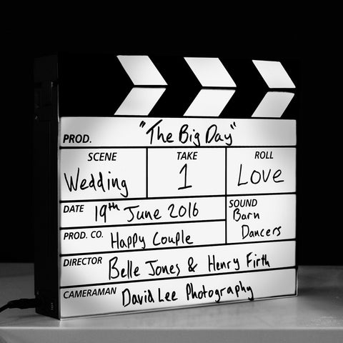 Film Clapper Board Light Box