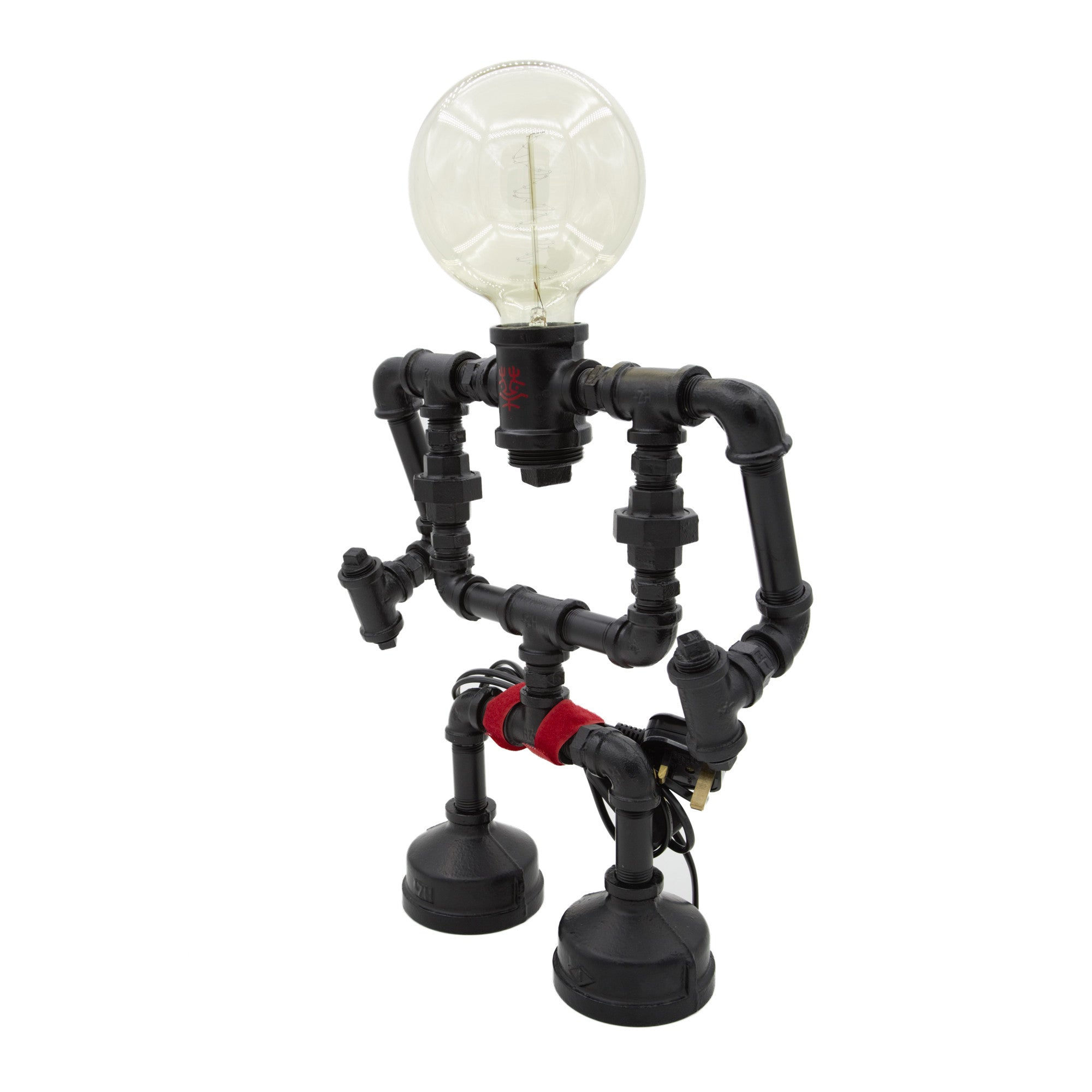 Touch Sensitive Robot Table Lamp - Large black