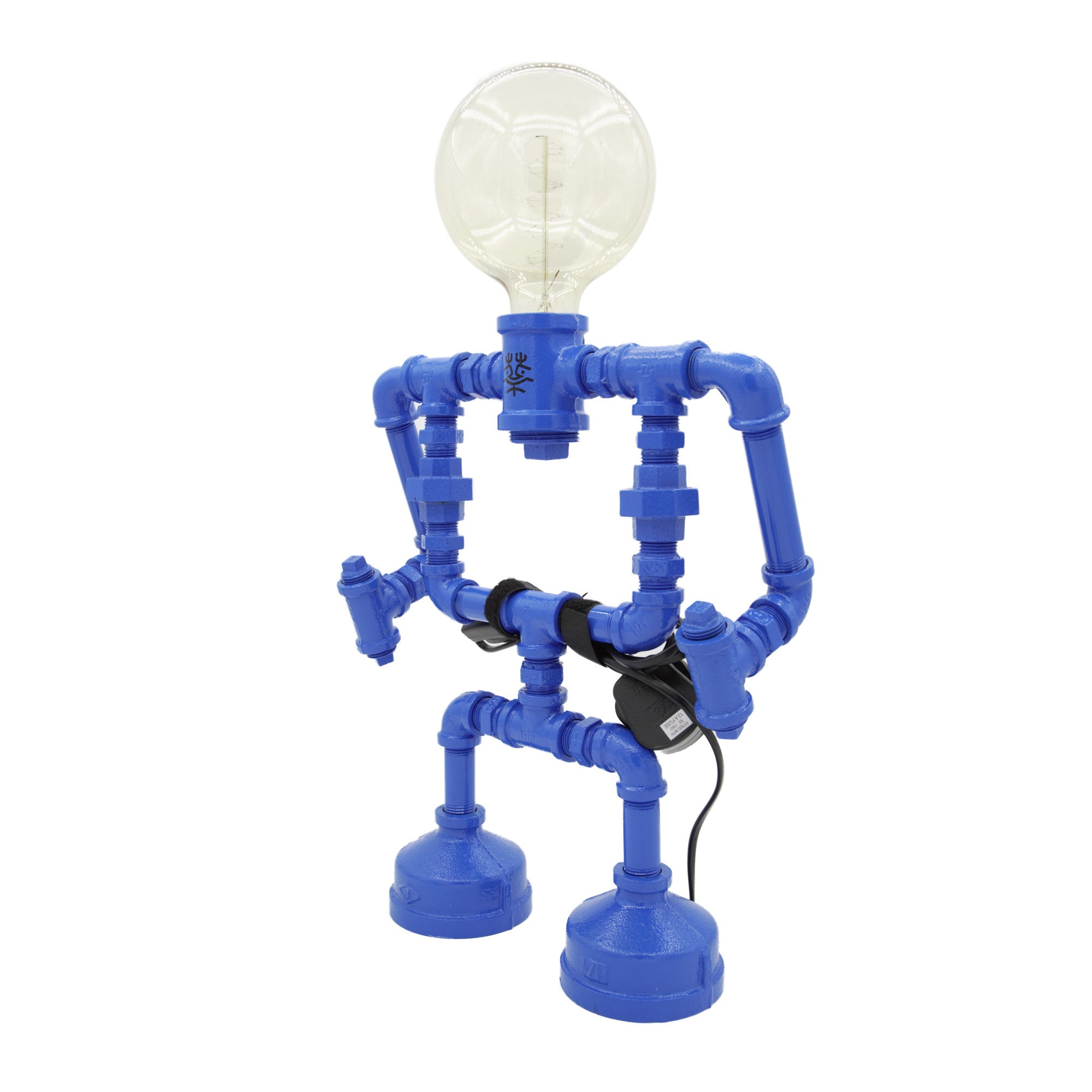 Touch Sensitive Robot Table Lamp - Large blue