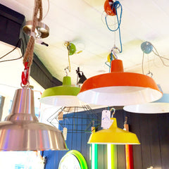Ceiling Pendant Light with Hook and Loop