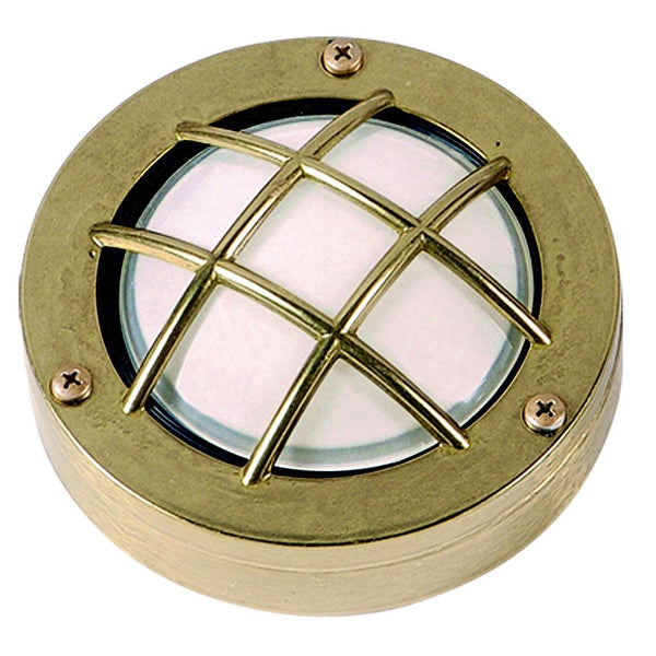 Bulkhead Porthole Mini Frosted - Brass