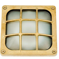 Bulkhead Square Frosted - Brass