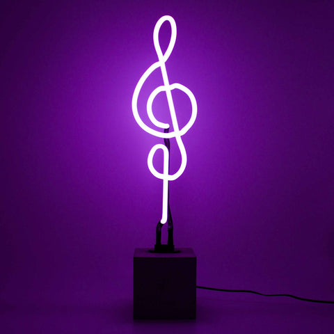 Treble Clef Neon Lamp