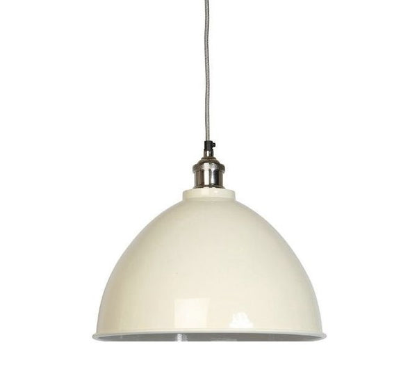 Moderne Large Cream Tapered Shade and Nickel Fitment