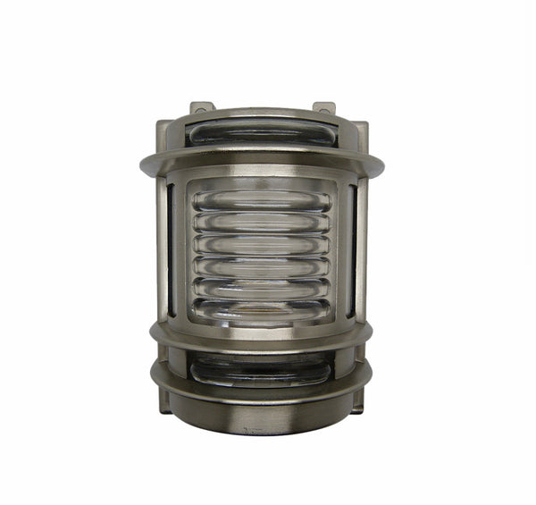 Nautical Brass Wall Light - Satin Nickel