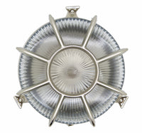 Bulkhead Radial Porthole - Satin Nickel