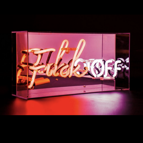 'Fuck Off' Acrylic Box Neon Light
